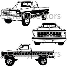 100 1987 Chevrolet Truck Vector File Etsy