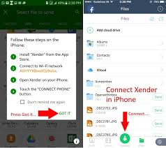 How to use xender in iPhone and Android Connect Transfer File