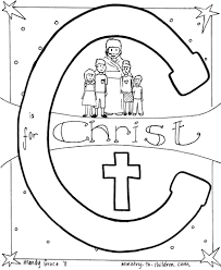 Download Coloring Pages Christian C Is For Christquot Page Images