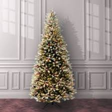 Snow Flocked Slim Christmas Tree by Pre Lit Flocked Christmas Tree Wayfair