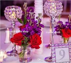 Wedding Flower Stand Decoration Crystal Wholesale Tall Candelabras