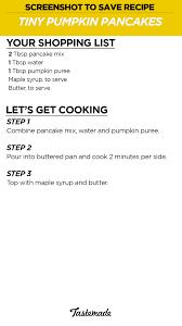 Easy Pumpkin Pancake Recipe by Tiny Pumpkin Pancakes Tiny Kitchen Tastemade