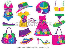 Women Summer Clothes Stock Vector 151427576