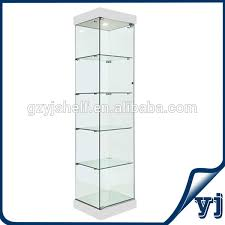 square white aluminum glass display showcase cabinet glass cabinet