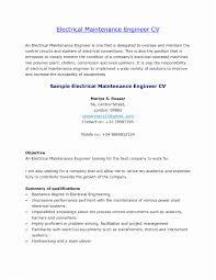 Electricians Sample Resume Electrical Maintenance Ideas Of Electrician