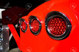100 Marker Lights For Trucks Line Of Rear Round Red With Chrome Rims On Fender