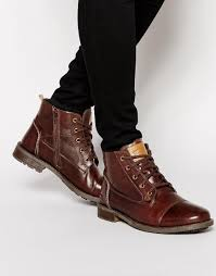 original penguin lace up zip boots in brown for men lyst