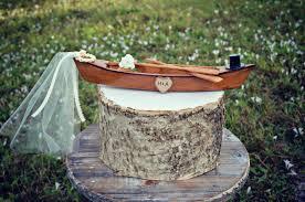 Canoe Boat Wedding Cake