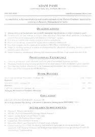 Resume Achievements Example Examples