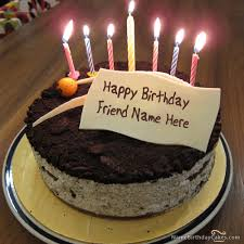 Cute Birthday Cake For Friends With Name 853
