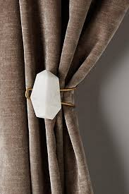 White Antler Curtain Tie Back by Cleaved Totem Tieback Totems Anthropologie And Marbles