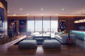 modernes wohnzimmer mit coolen und klaren linien trendomat