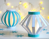 Printable Green Christmas Paper Lantern DIY PDF Craft Template And Instruction Include Instant Download