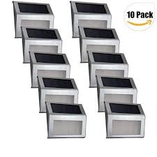 Solar Lights For Deck Stairs by Solar Lights Elelink Outdoor Stainless Steel Led Solar Deck Step