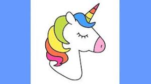 How To Draw Unicorn With Rainbow Hair Cute And Easy