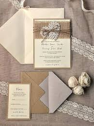 Best Of Country Chic Wedding Invitations And Rustic Fresh Burlap Luxury