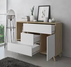 esszimmer sideboard zusatzmöbel buffet wind 1 tür 3 schubladen farbstruktur puccini und farbtür und schubladen weiß maße 120x40x86cm