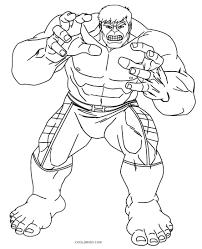 Hulk Coloring Pages Free Printable Kids Hulkbuster Lego