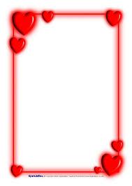Valentine s Day A4 Page Borders SB1186 SparkleBox