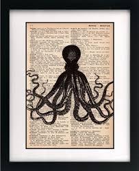 antyki i sztuka book page print octopus