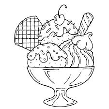 Ice Cream Coloring Pages To Print Free Printable For Kids Gallery