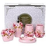 amazon com pink bathroom accessory sets bathroom accessories