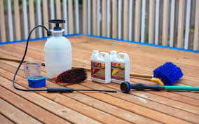 Restaining A Deck Do It Yourself by How To Refinish A Deck Home Improvement Projects To Inspire And