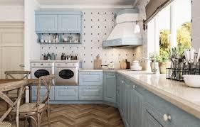 romantische retro küche landhausküche estel hellblau mit