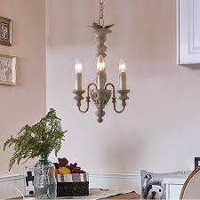 3 licht vintage kronleuchter kleine holz hängen leuchte