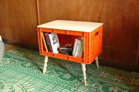 Plastic Crate Into Side Table