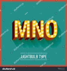 lightbulb typeface vectorillustration mno stock vector 226019467