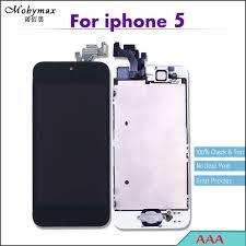 Mobymax Pantalla LCD Full Assembly For iPhone 5 Touch Screen