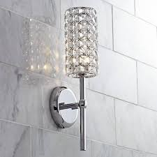cylinder 16 high chrome wall sconce y6862 ls plus
