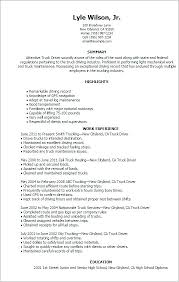 Truck Driver Resume Sample Examples Free Samples