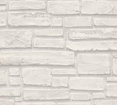 vliestapete stein optik naturstein grau weiß 6623 16