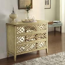 Hayworth Mirrored 3 Drawer Dresser by To Coast Imports 3 Drawer Natural Dresser