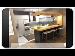 Blue Modern U Shaped Kitchen Designs