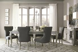 Ashley Furniture Coralayne Rectangular Dining Room Extension Table Set In Silver