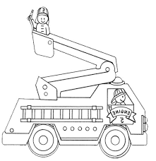 Rescue Fire Truck Coloring Pages