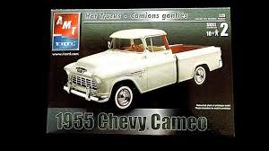 100 Hot Trucks Model Kit 1955 Chevrolet Cameo Pickup Amt 125 For Sale