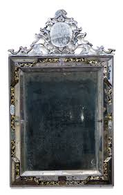 Pier One Dressing Mirror by An Italian Verre Eglomisé Pier Mirror Venetian 18th Century