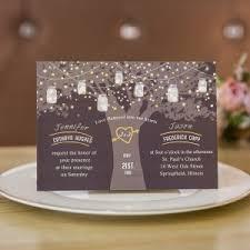 Love Tree Wedding Invitation With Foil Stars EWFI022