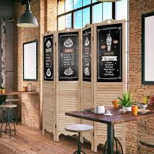raumteiler faltbar costway 4tlg büro oder restaurants