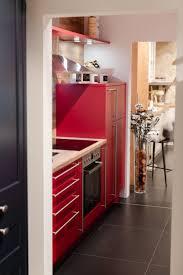 mut zur farbe zwei zeilen küche in rot