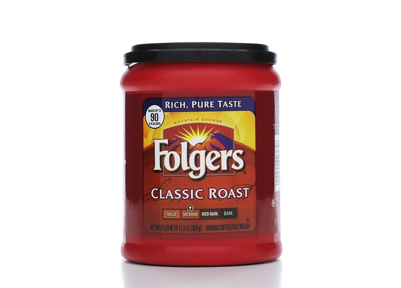 Folgers Classic Roast Ground Coffee - 11.3 oz