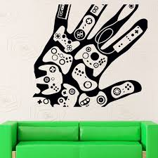 Video Game Sticker Play Decal Gaming Posters Gamer Vinyl Wall Decals Parede Decor Mural 19 Color Choose In Stickers From Home