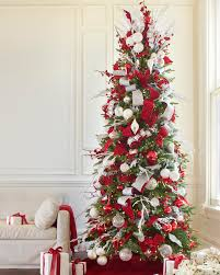 Grandin Road Artificial Christmas Trees by Balsam Hill Christmas Tree Decorated With The Red White And