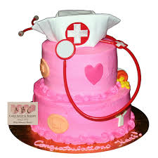 2064 2 Tier Pink Nurse Cake ABC Cake Shop & Bakery