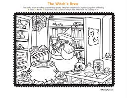 Hidden Picture Coloring Page Witchs Brew Printable Activity For Kids