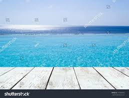 100 Infinity Swimming Pool View On Aegean Stock Photo Edit Now